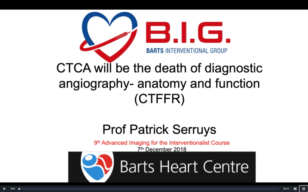 CT-FFR – The Death of Diagnostic Angiography?