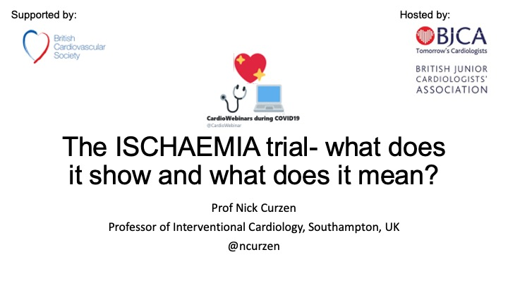 Ischaemia trial- what did it show and what does it mean- Prof Nick Curzen