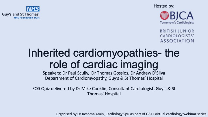 Inherited cardiomyopathies- the role of cardiac imaging