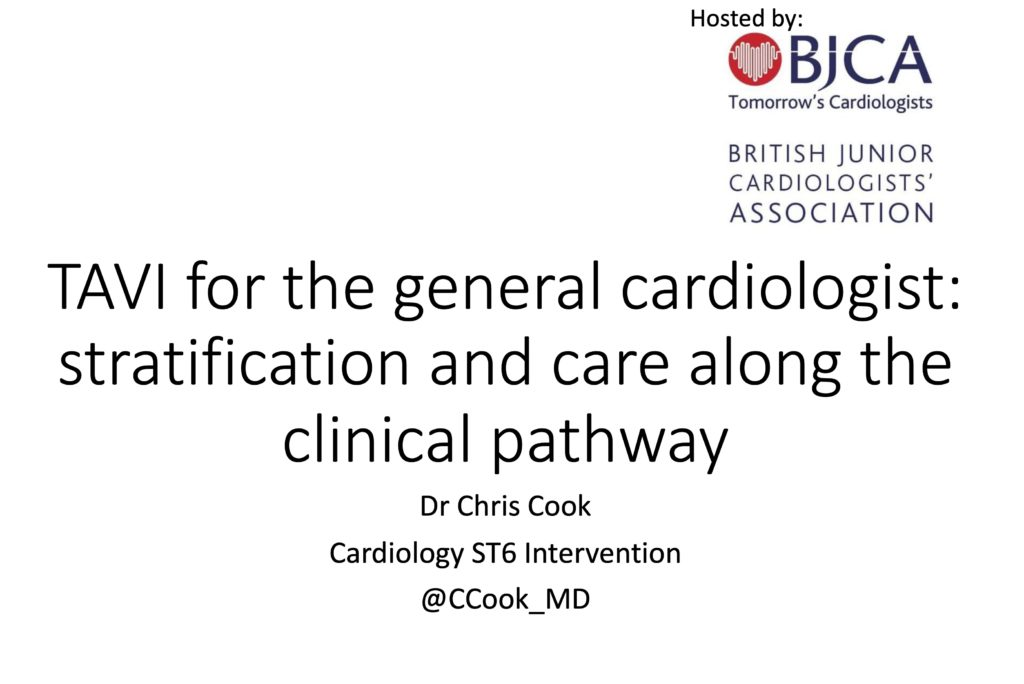 TAVI: stratification and care along the clinical pathway by Dr Chris Cook