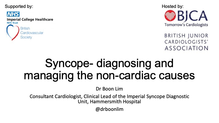 Syncope- diagnosing and managing non-cardiac causes