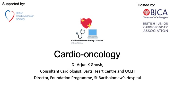 Cardio-oncology by Dr Arjun Ghosh