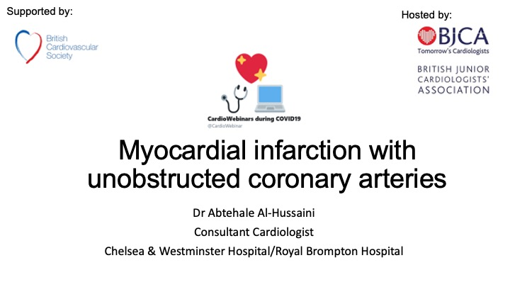 SCAD and MINOCA by Dr Al-Hussaini