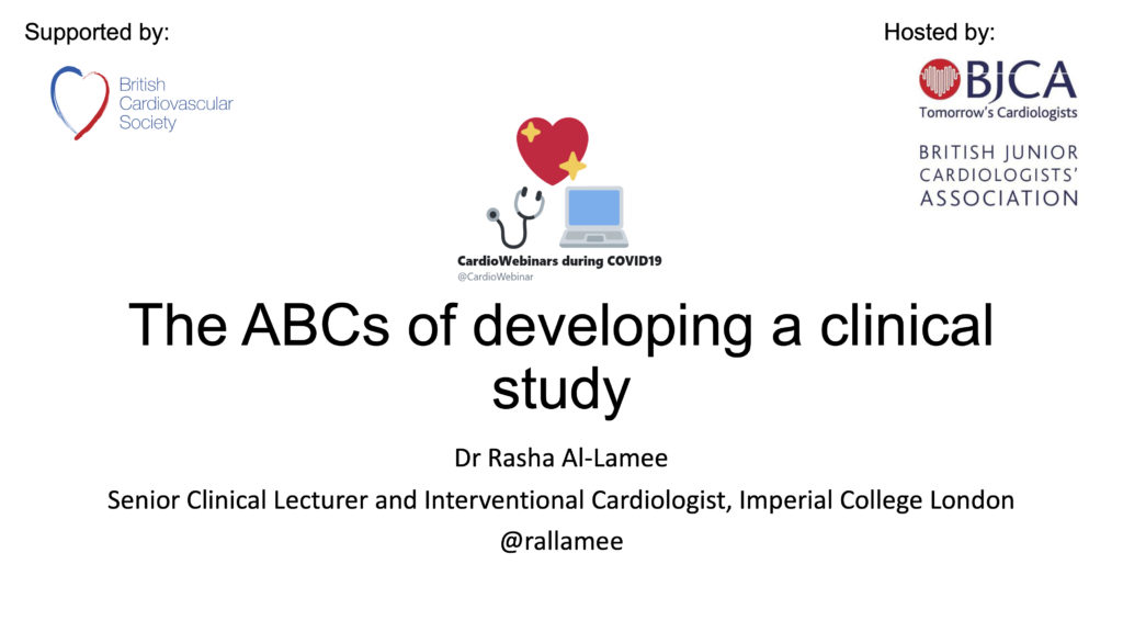 The ABC's of developing a clinical study- Dr Rasha Al-Lamee