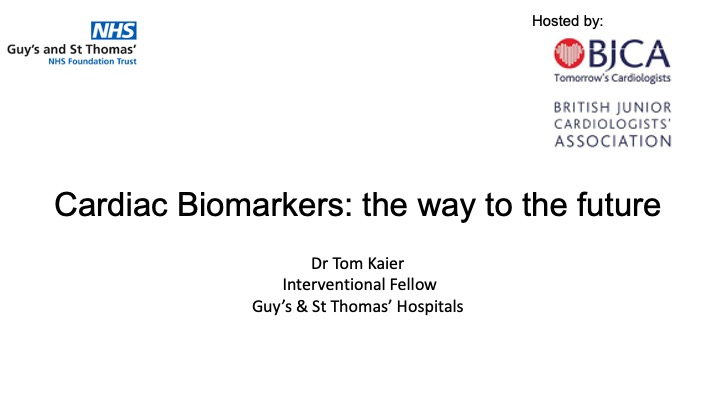 Cardiac Biomarkers: The way to the future?