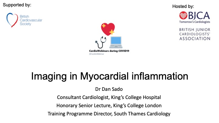 Imaging in myocardial inflammation