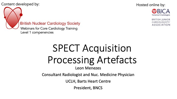 SPECT Acquisition Processing Artefacts- BNCS Level 1 series