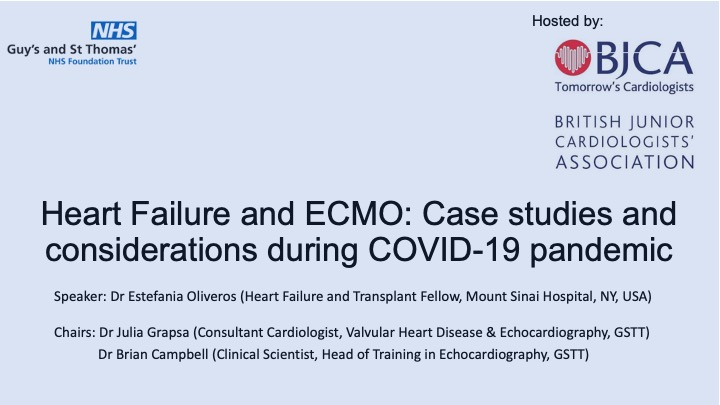 Heart Failure and ECMO: Case studies and considerations during COVID-19 pandemic