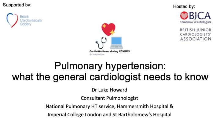 Pulmonary Hypertension: what the general cardiologist needs to know