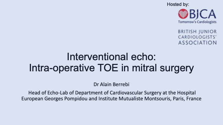 Interventional echo: TOE during mitral valve surgery