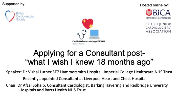 Applying for a Consultant post- what I wish I knew 18 months ago.