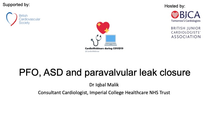 PFO, ASD and paravalvular leak closure