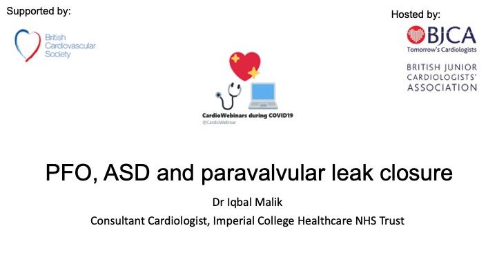 PFO, ASD and paravalvular leak closure