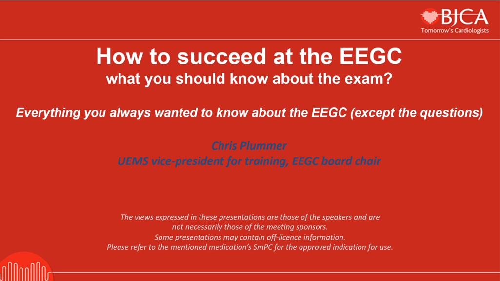 EEGC CONTENT: How to succeed at the EEGC