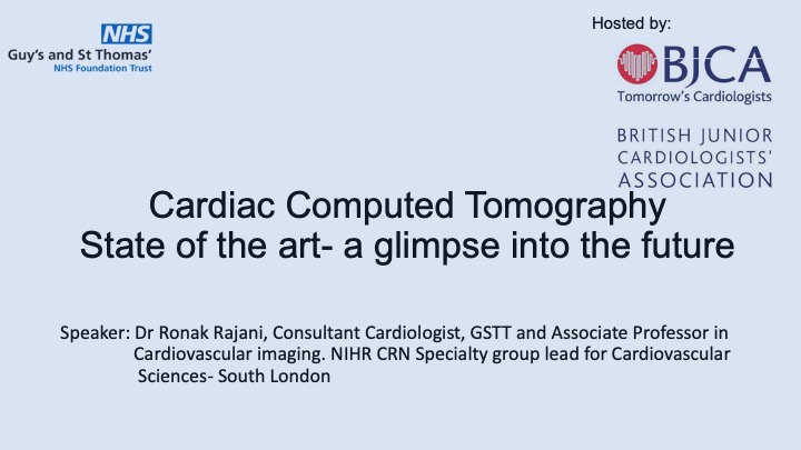 Cardiac CT: an introduction and a look to the future