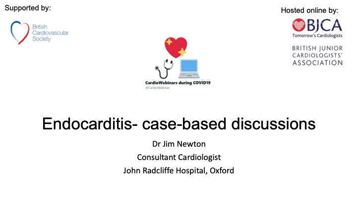 Endocarditis- case-based discussions