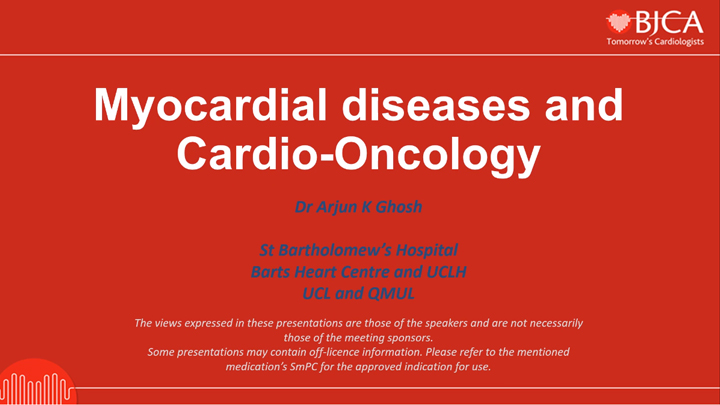 EEGC CONTENT: Myocardial diseases and Cardio-Oncology