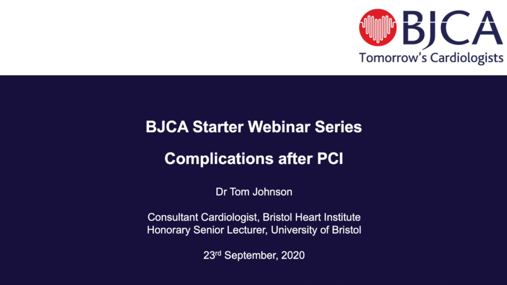 BJCA Starter E4: Complications Post-PCI