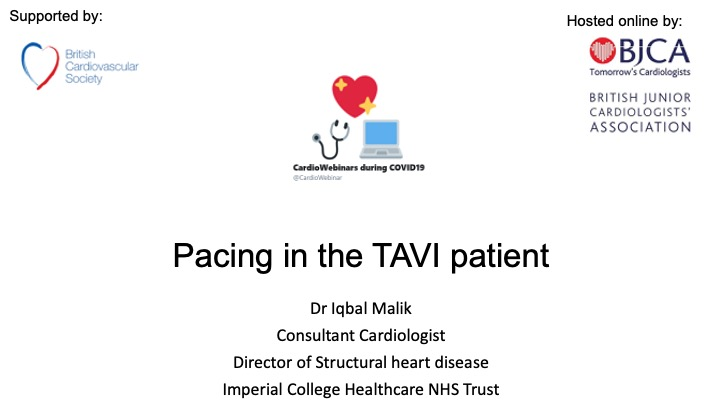 Pacing in the TAVI patient