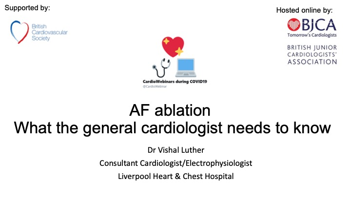 AF Ablation- what the general cardiologist should know