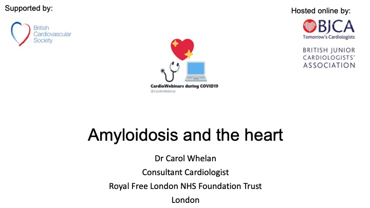 Amyloidosis and the heart
