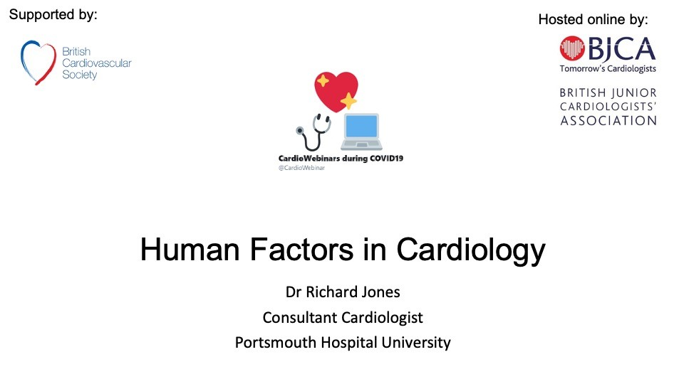 Human Factors in Cardiology