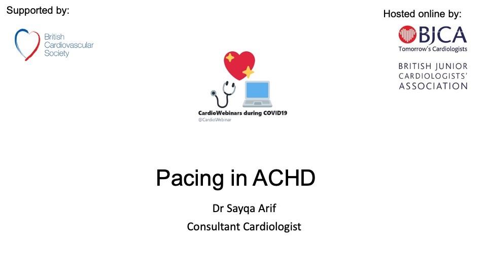 Pacing in ACHD